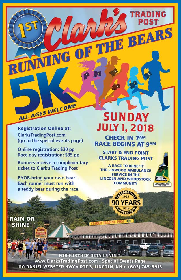 Running of the Bears 5K race on July 1, 2018